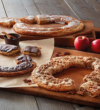 Chocolate Eclair, Pecan, & Apple Cinnamon Kringles